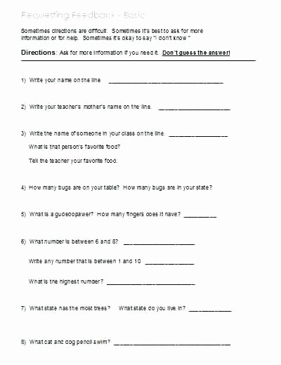 Printable Following Directions Worksheet Kids Free Printable Reading Prehension Worksheets Grade 1