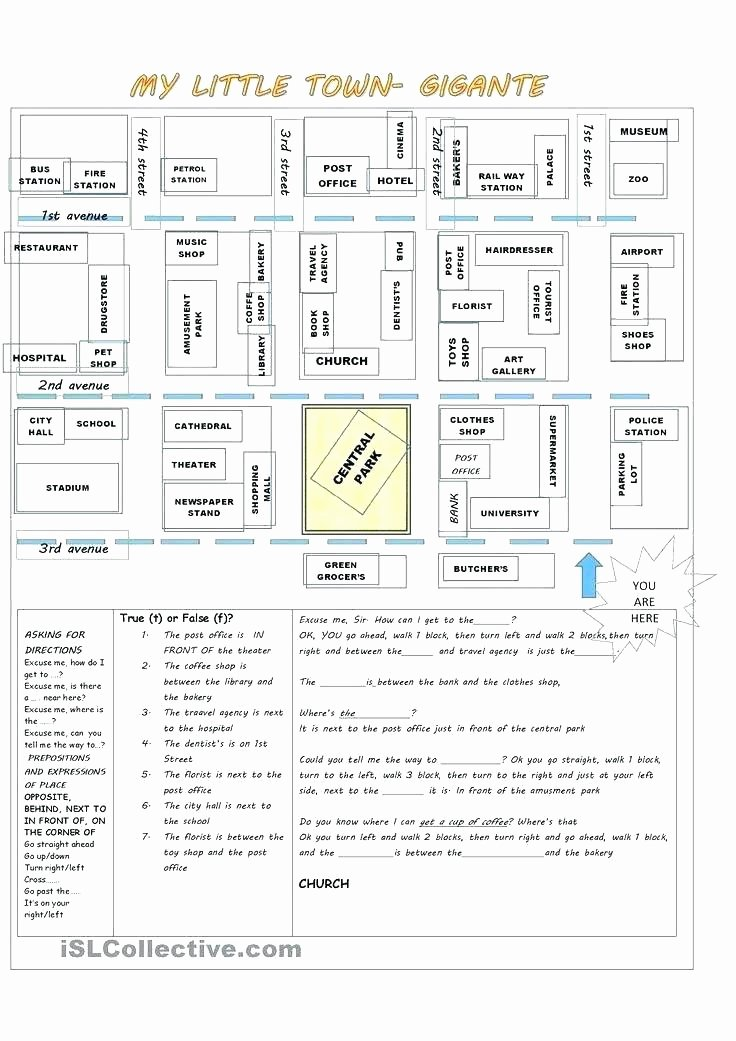Printable Following Directions Worksheet My town Worksheets