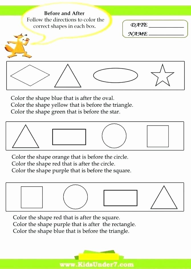 Printable Following Directions Worksheet Step Worksheets