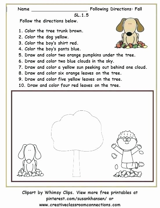 Printable Following Directions Worksheets Following Direction Worksheets Teachers Pay Teachers Free