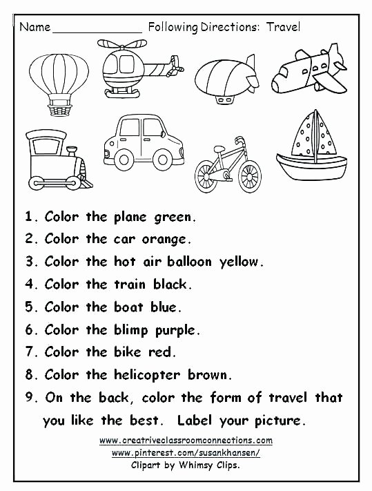 Printable Following Directions Worksheets Following Directions Worksheets Listening Skills Speech