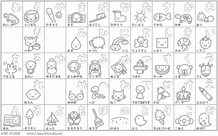 Printable Hiragana Worksheets 27 Hiragana Charts Stroke order Practice Mnemonics and