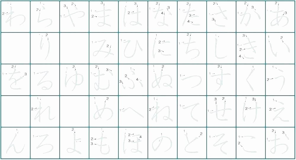 Printable Hiragana Worksheets Learn Japanese Worksheets Get the Free Hiragana Numbers