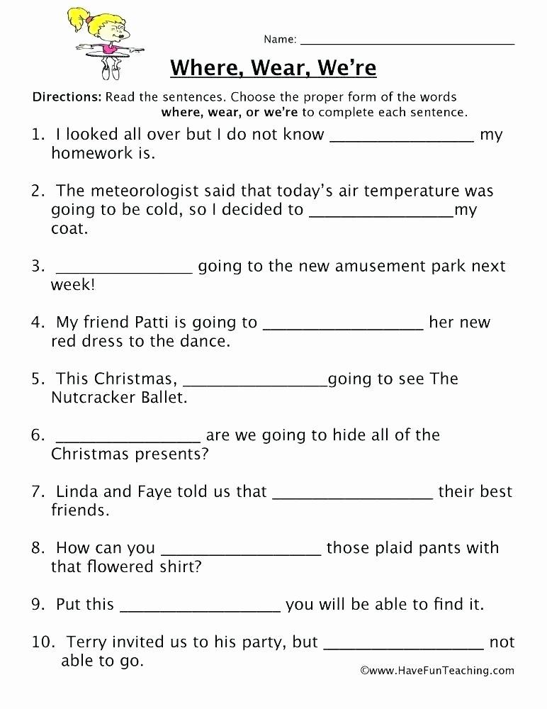 Printable Homophone Worksheets Printable Homophone Worksheets