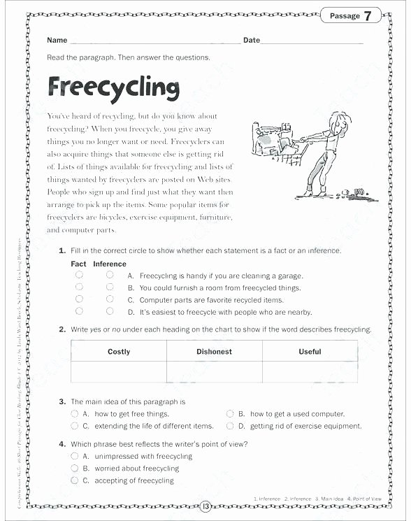 Printable Life Skills Worksheets 7th Grade Math Worksheets – Page 40 – Kaliz
