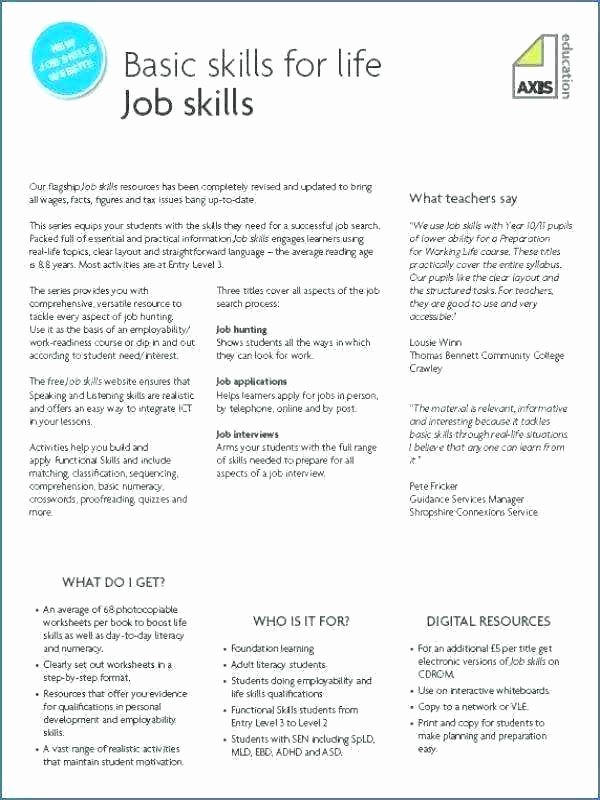 Printable Life Skills Worksheets Life Skills Worksheets