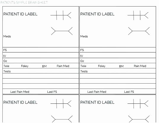 Printable Nurse Report Sheets Nursing Shift Report Template Nursing End Shift Report