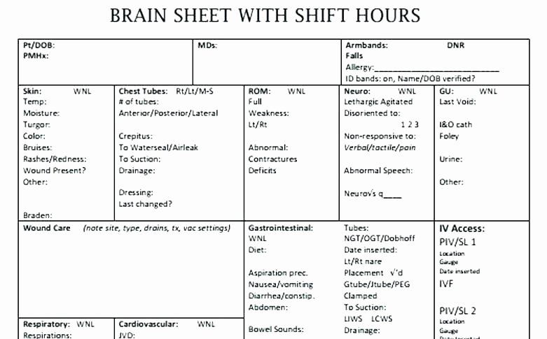 printable nursing worksheets report template shift brain sheet nu math for students medication