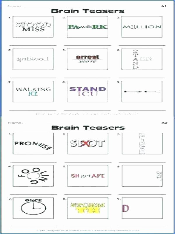 Printable Rebus Puzzles for Kids Printable Brain Teasers Farmer Browns Bender Number 1 Games