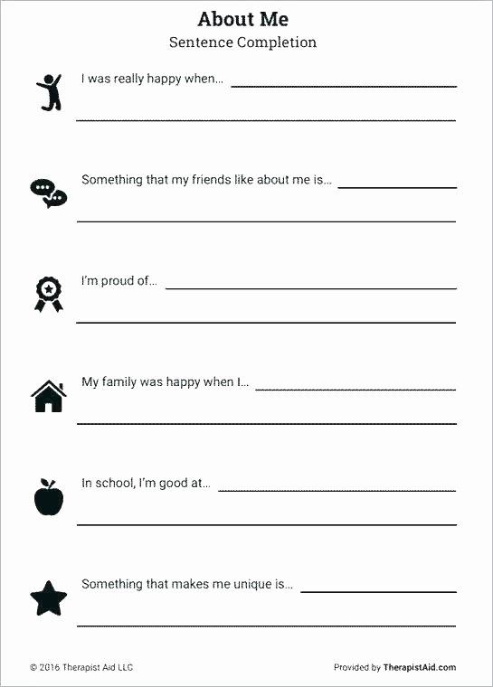 Printable Self Esteem Worksheets Free Printable Self Help Worksheets Free Printable