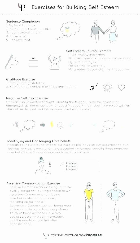 Printable Self Esteem Worksheets Self Esteem Worksheets for Girls
