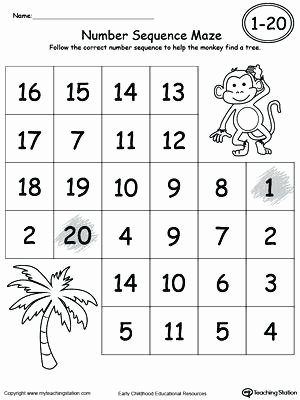Printable Sequencing Worksheets Number Sequencing Worksheets Kindergarten Practice Number