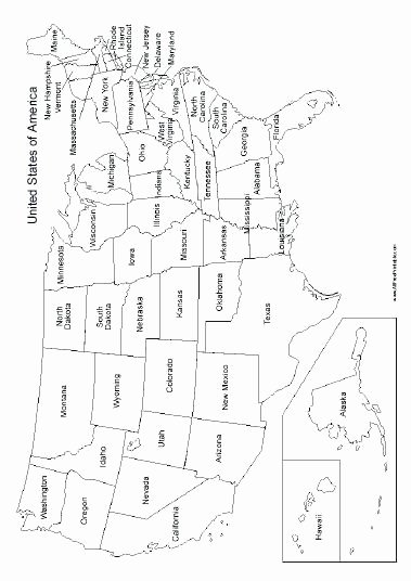 Printable States and Capitals Quiz United States Map with Names – Votebyte