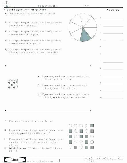 Probability Worksheet 4th Grade Probability Worksheets Grade 7 – Petpage