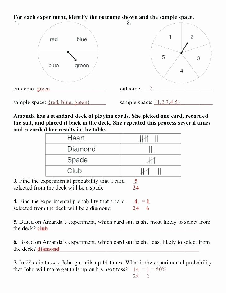 Probability Worksheet 5th Grade Third Grade Math Probability Worksheets Download them and