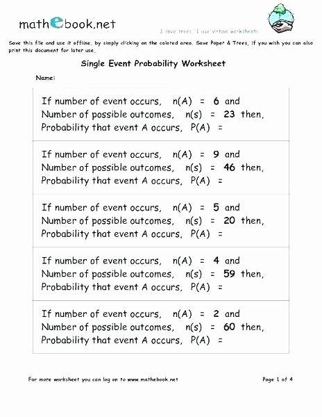 free math probability worksheets grade 7 printable 9 best images on possible or impossible pdf