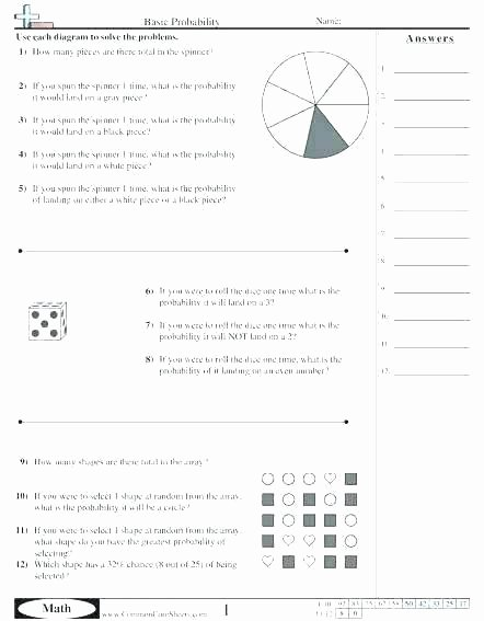 Probability Worksheets High School Pdf Grade Probability Worksheets Data and Math Word Problems A