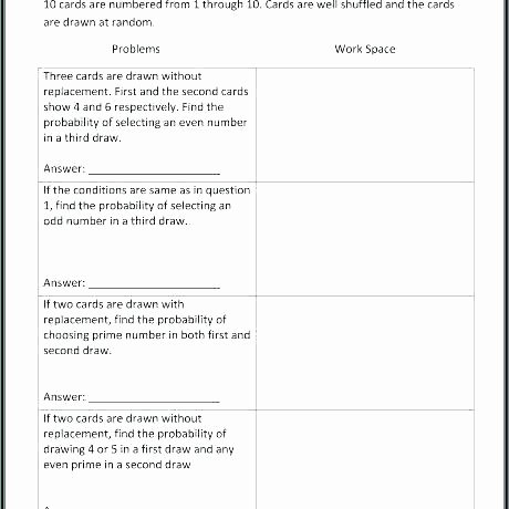 Probability Worksheets High School Pdf Probability and Statistics Worksheets Pdf