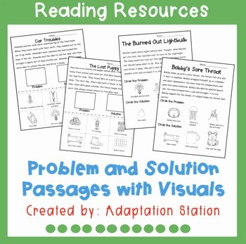 Problem and solution Reading Worksheets Lovely Problem and solution Passages Worksheets & Teaching