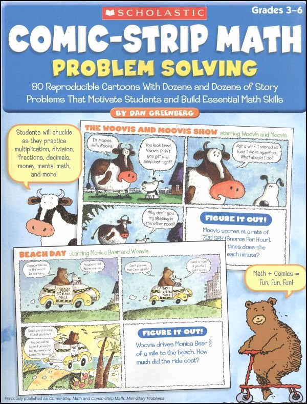 Problem solving and Comprehension Ic Strip Math Problem solving Classroom Elar
