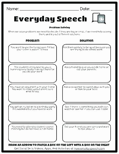 Problem solving and Comprehension Problem solving Skills Worksheets