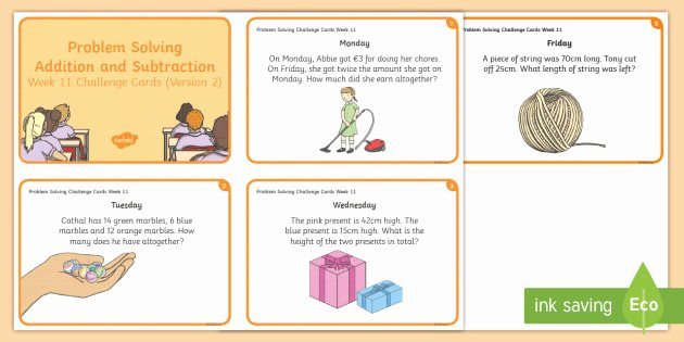 Problem solving and Comprehension Week 11 Version 2 Problem solving E A Day Challenge