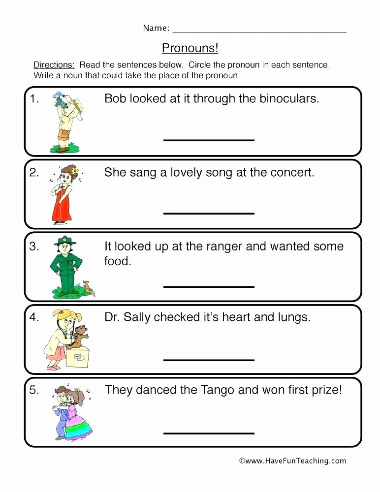 Pronoun Worksheet for 2nd Grade Pronoun Worksheet 3 Relative Possessive Pronouns Have Fun