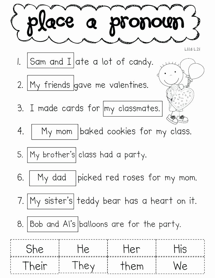 Pronoun Worksheets 6th Grade Indefinite Pronouns Pronoun Agreement Worksheets Antecedent