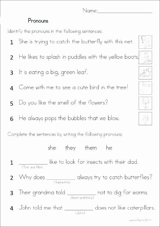 Pronoun Worksheets 6th Grade Pronoun Quiz Grammar Worksheets for Class 3 Pronouns