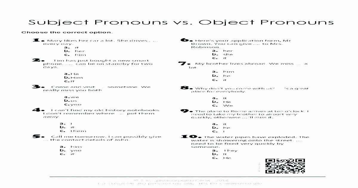 Pronoun Worksheets 6th Grade Pronoun Worksheets 6th Grade Free