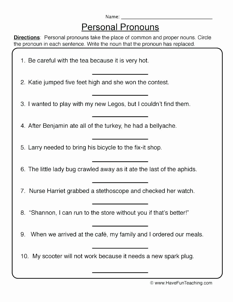 Pronoun Worksheets for 2nd Grade Demonstrative Pronouns Worksheets Printable Free Pronoun