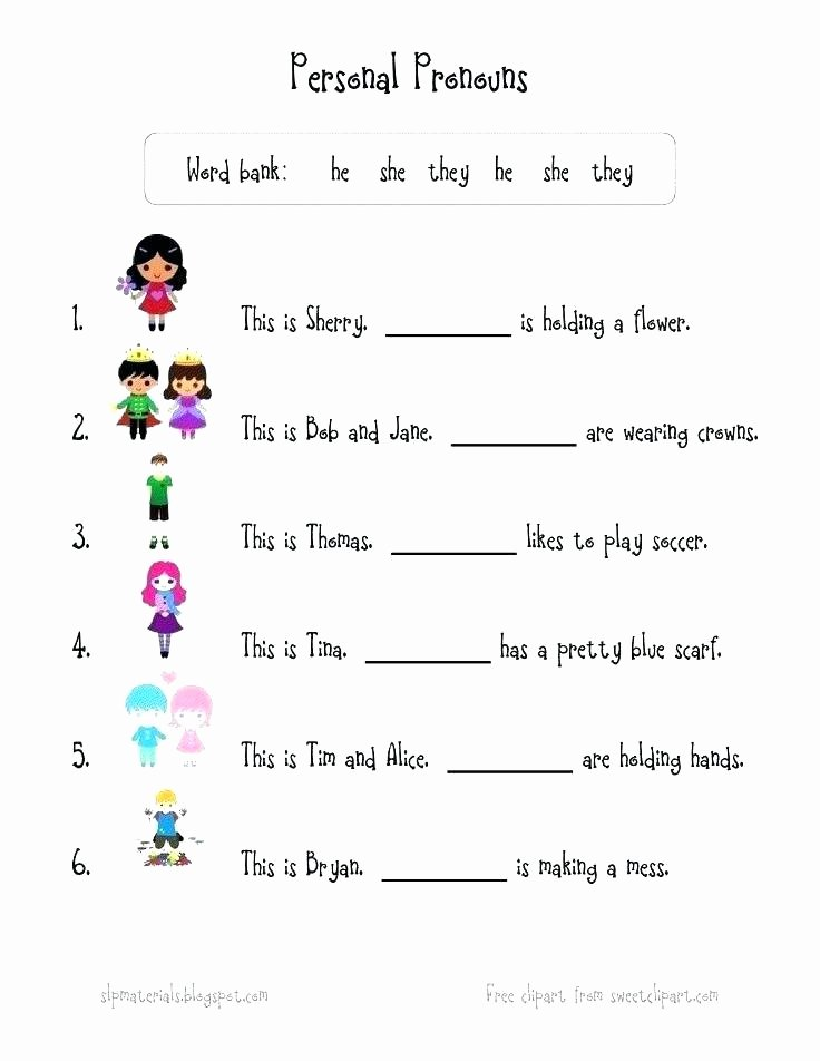 Pronoun Worksheets for 2nd Grade Grammar Worksheets for Grade 5 Pdf