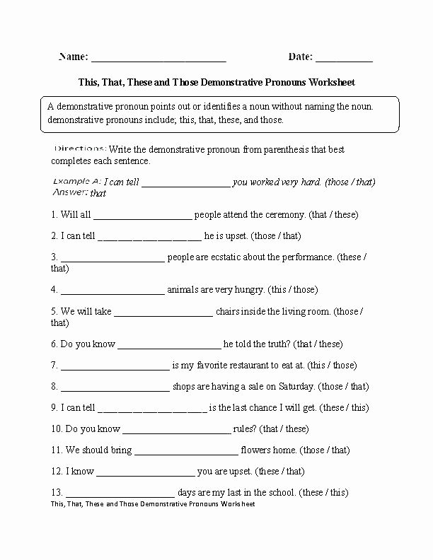 Pronoun Worksheets for 2nd Grade Pronoun Worksheets Grade About This Worksheet Possessive