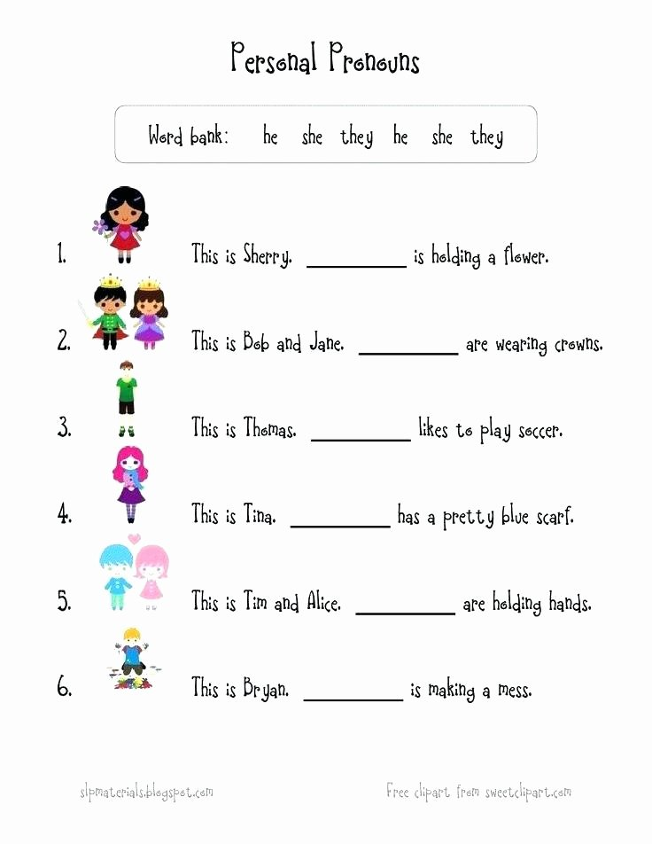 Pronoun Worksheets for 2nd Graders Pronoun Worksheets for Grade 3 Free Mon Core Possessive