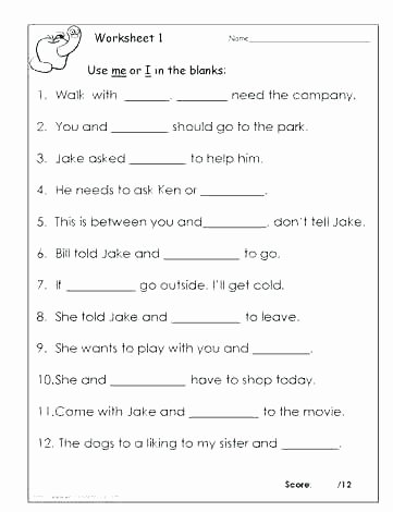 Pronoun Worksheets for 2nd Graders Pronoun Worksheets Grade Adverb Worksheet where Printable