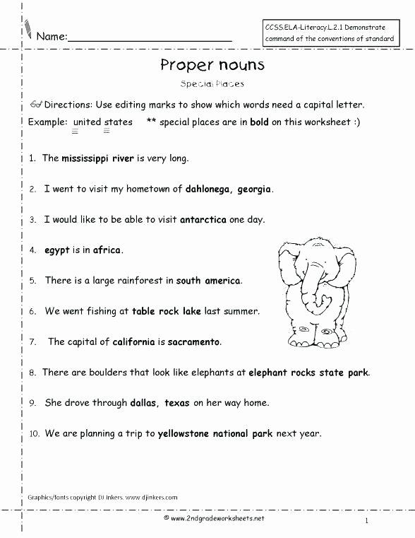Pronoun Worksheets Second Grade A Free Printable Possessive Nouns Worksheets Singular and