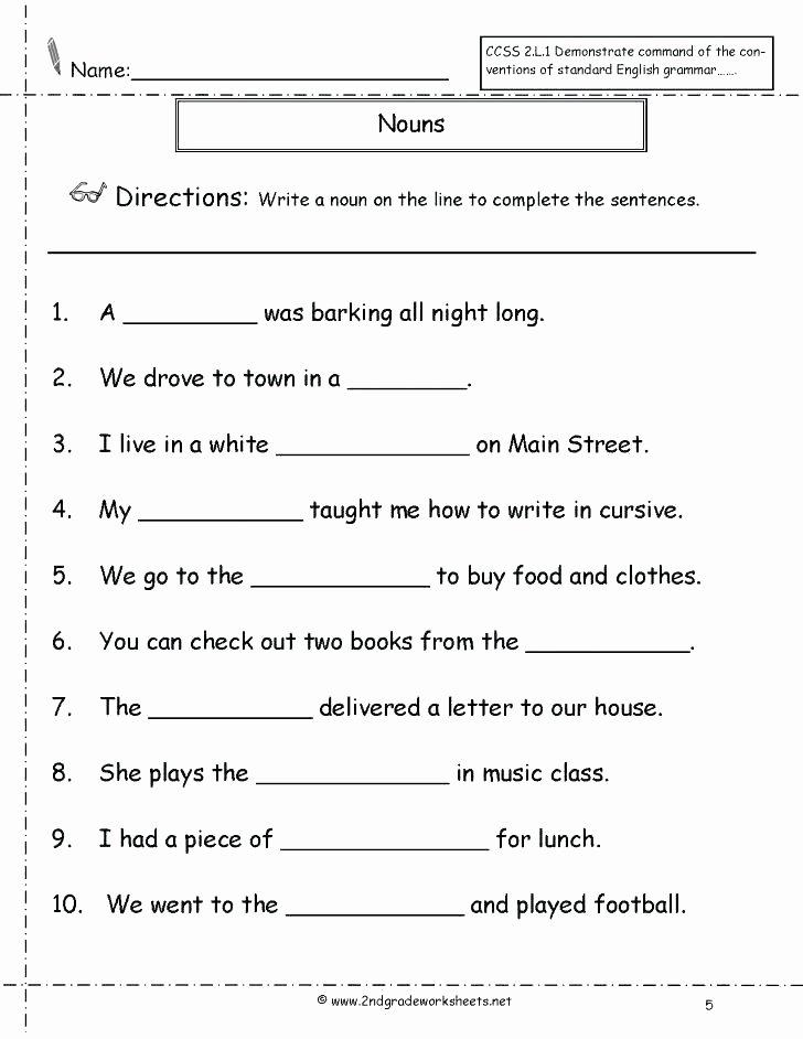 Pronouns Worksheet 2nd Grade Nouns and Pronouns Worksheets Possessive Pronouns Worksheets