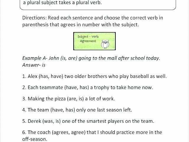 Pronouns Worksheet 2nd Grade Pronoun Antecedent Agreement Worksheet Awesome Verb