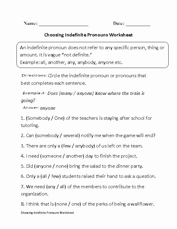 Pronouns Worksheet 2nd Grade Pronoun Worksheets Pronouns Worksheets Pdf with Answers