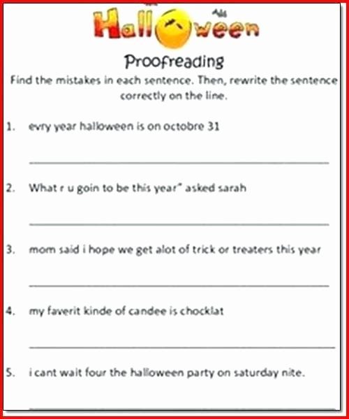 Proofreading Worksheets 3rd Grade 3rd Grade Halloween Worksheets A Worksheet Ten Math
