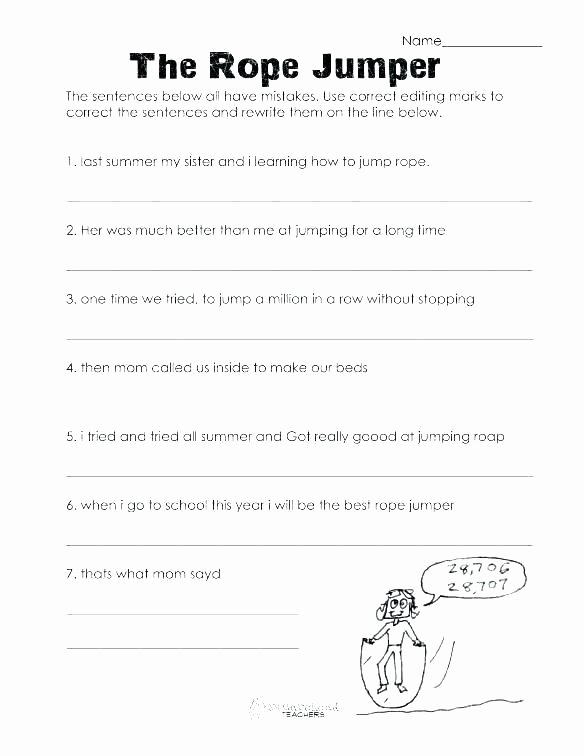 Proofreading Worksheets 5th Grade Free Grammar Worksheets 5th Grade