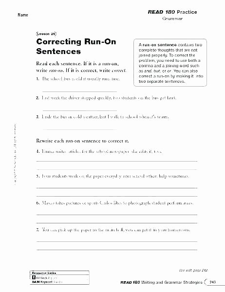 Proofreading Worksheets Middle School Revising and Editing Worksheets High School
