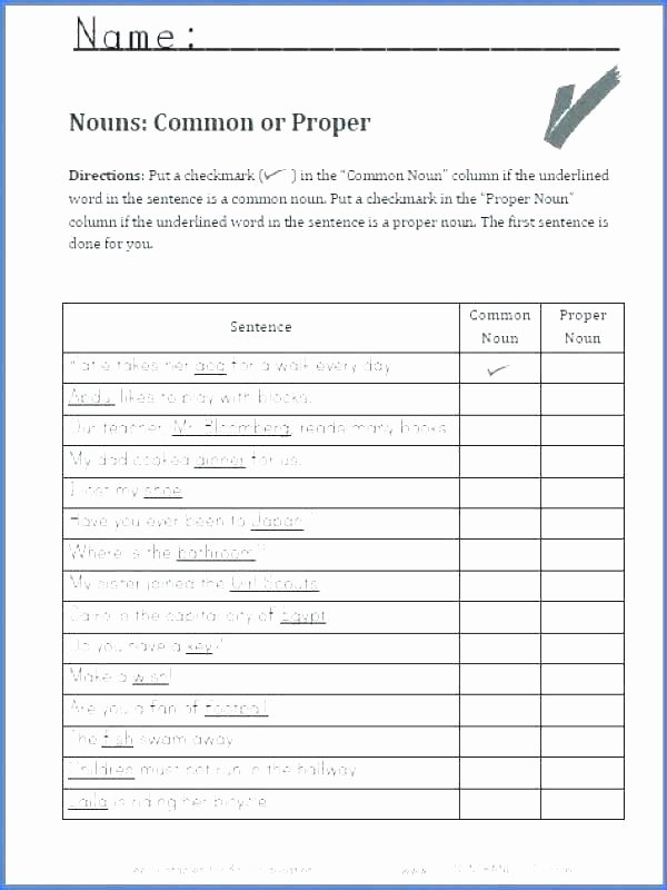 Proper Nouns Worksheet 2nd Grade Noun Number Worksheets Noun Phrase Worksheets for Grade 4 Pdf