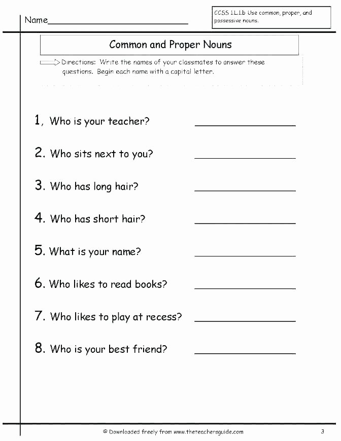 Proper Nouns Worksheet 2nd Grade Plural Possessive Worksheets 4th Grade – Onlineoutlet