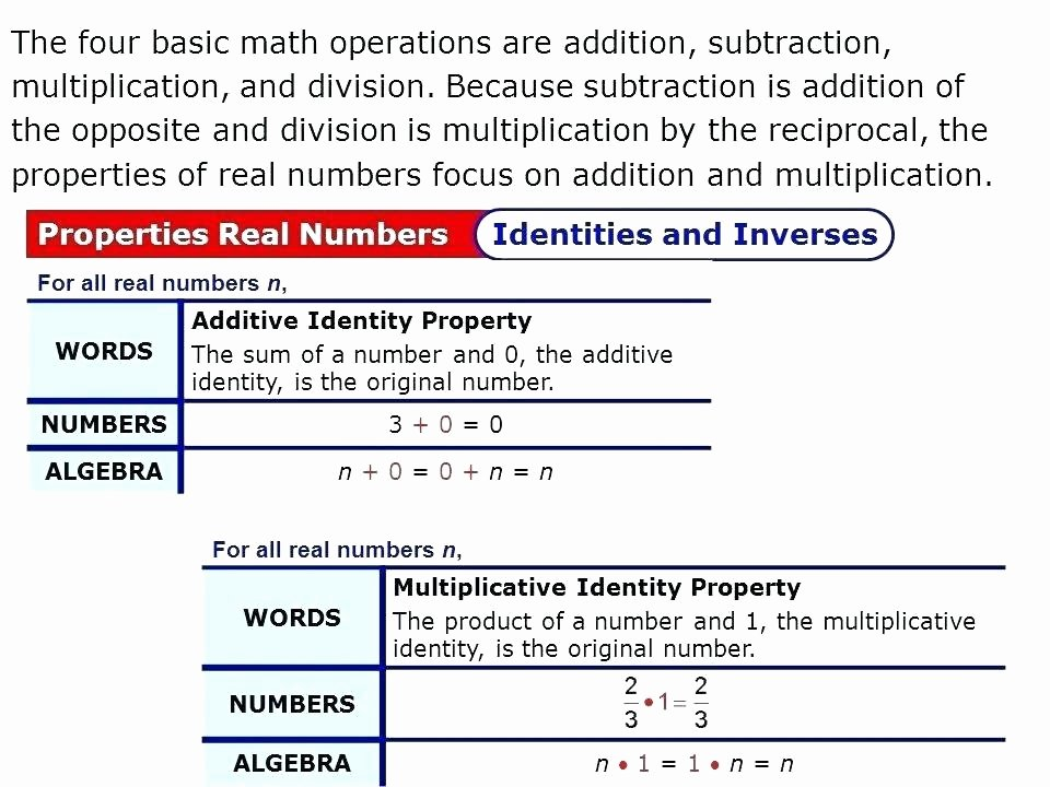 Properties Of Addition Worksheets Pdf Identity Properties In Math Property Addition Multiplication