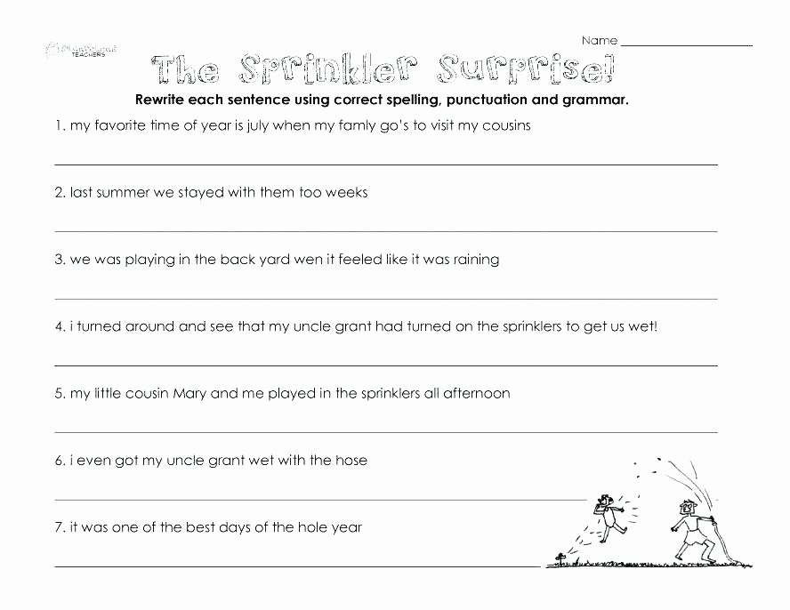 Punctuation Worksheets 5th Grade Punctuation Worksheets for Grade 1 Free Printable Grammar