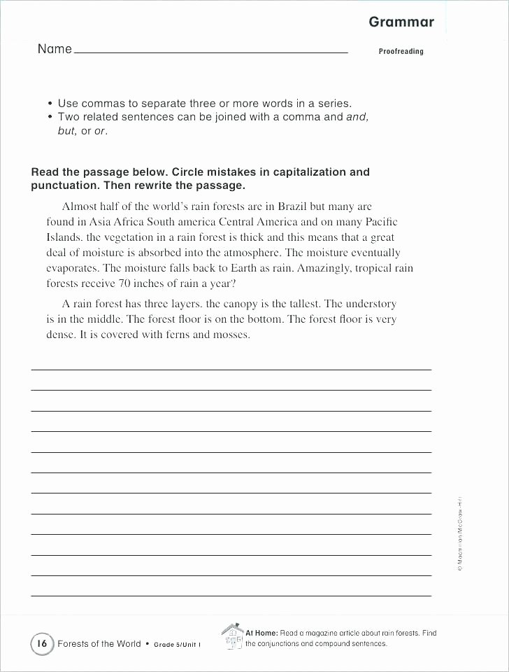 Punctuation Worksheets 5th Grade Sen Activity Booklets Guided Grammar and Punctuation