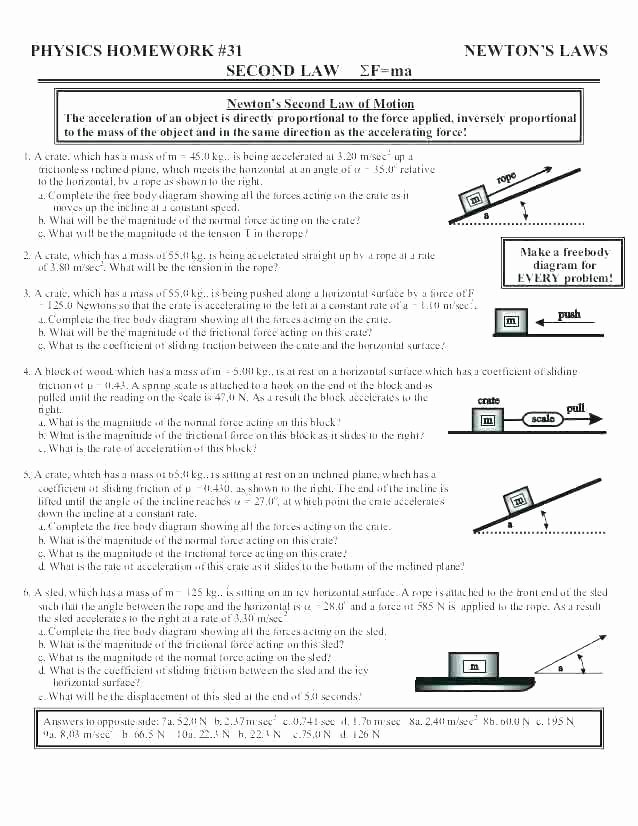 Push and Pull Worksheets force Worksheets for 2nd Grade