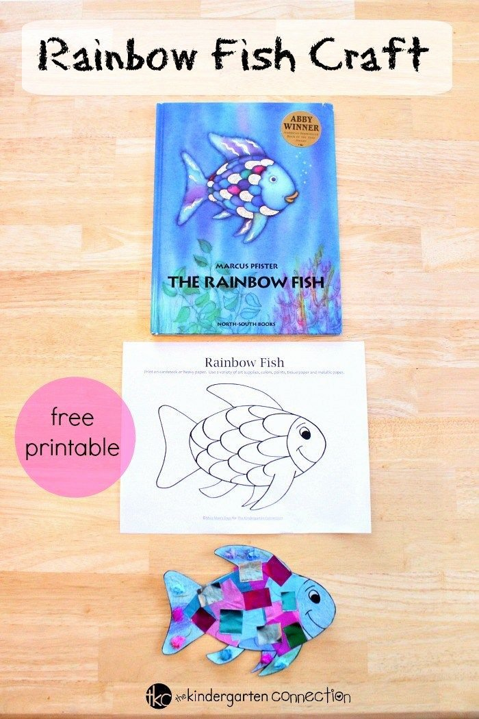 Rainbow Fish Printable Worksheets New Rainbow Fish Craft Free Printables