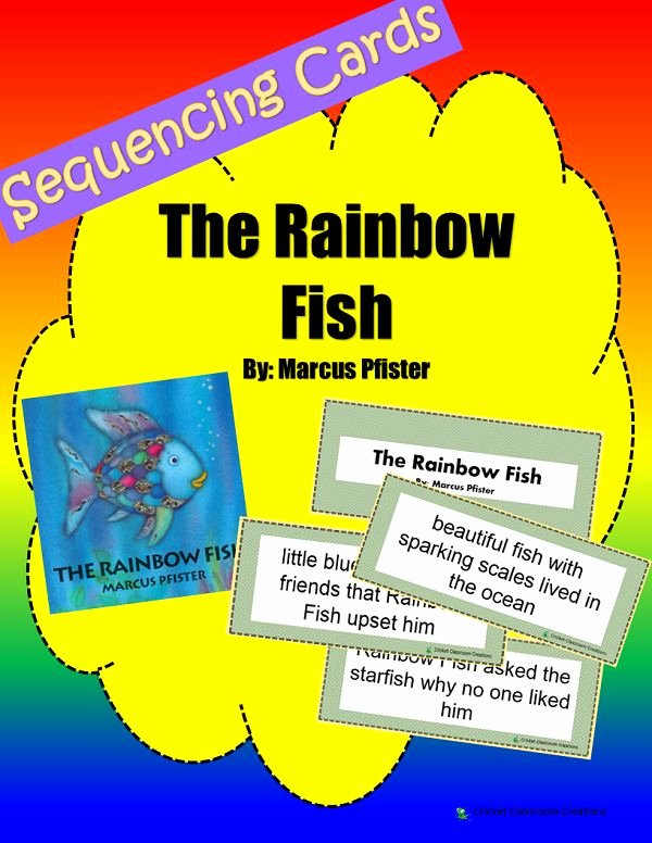Rainbow Fish Worksheets Awesome Sequencing Pictures Rainbow Fish